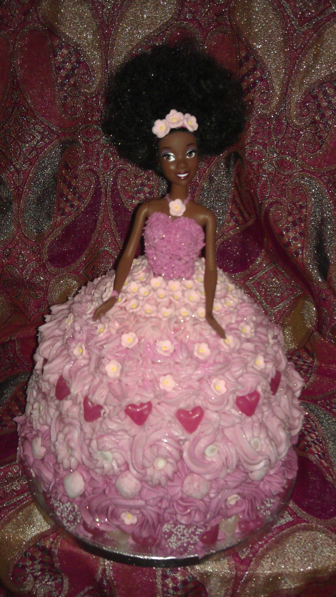 Princess in Pink Cake (contains topless doll images...lol)